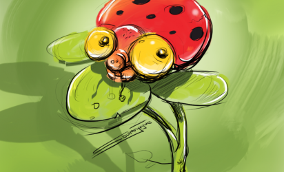 Concept ~ Whimsical Bug Character