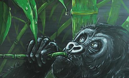 Hope Renewed, Baby Gorilla Painting