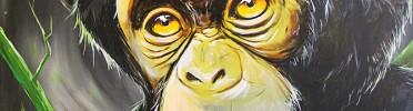 Chimpanzee Painting, Ray of Hope