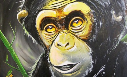 Chimpanzee Painting, Ray of Hope