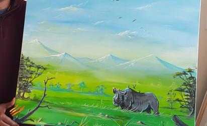 Painting ~ Rhino Landscape