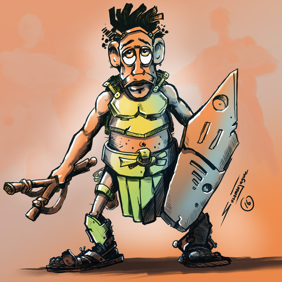 Warrior_Drawing_Solomon_W_Jagwe_01