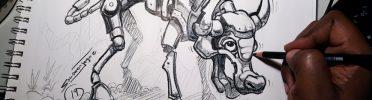 Concept Robo Buffalo Drawing