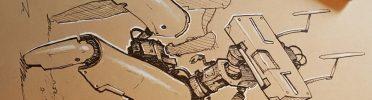 Concept Mech Bot Excavator Drawing